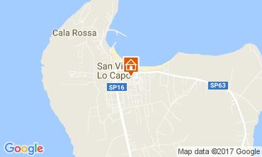 Mappa San Vito lo Capo Appartamento 110157