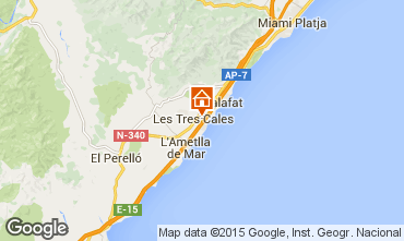 Mappa La Ametlla de Mar Villa  60101