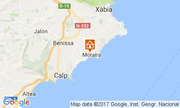 Mappa Moraira Villa  50670