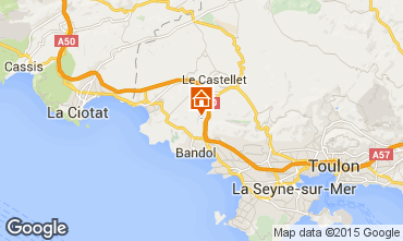 Mappa La Cadière d'Azur Villa  94916