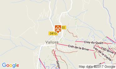 Mappa Valloire Appartamento 107444