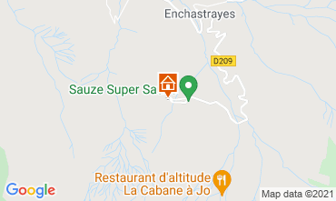 Mappa Le Sauze Monolocale 79508
