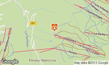 Mappa Peisey-Vallandry Appartamento 93854