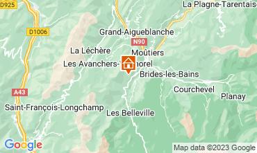 Mappa Les Menuires Appartamento 42285