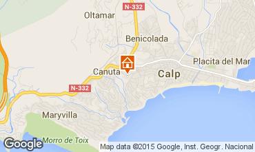Mappa Calpe Bungalow 29412