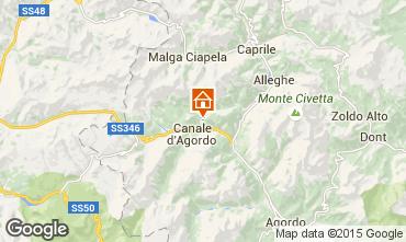 Mappa Falcade Appartamento 66852