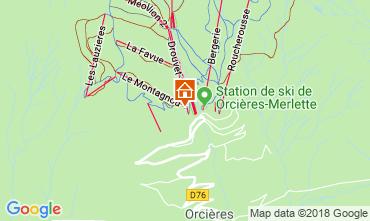 Mappa Orcières Merlette Appartamento 40002