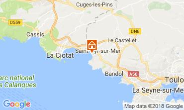 Mappa Saint Cyr sur Mer Appartamento 113223