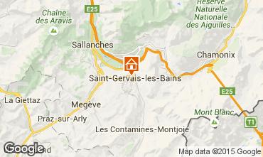 Mappa Saint Gervais Mont-Blanc Appartamento 2553
