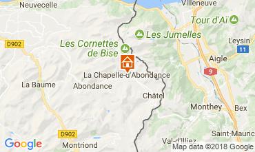 Mappa La Chapelle d'Abondance Appartamento 115949