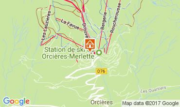 Mappa Orcières Merlette Appartamento 2028
