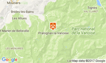 Mappa Pralognan la Vanoise Appartamento 52387