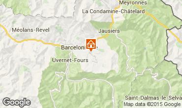 Mappa Barcelonnette Appartamento 100883