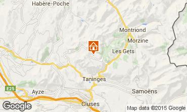 Mappa Praz de Lys Sommand Chalet 101067