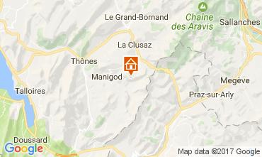 Mappa Manigod-Croix Fry/L'étale-Merdassier Appartamento 82225