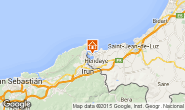 Mappa Hendaye Appartamento 81036