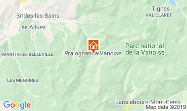 Mappa Pralognan la Vanoise Appartamento 2280