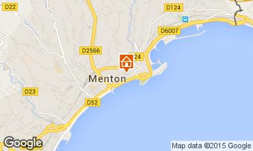 Mappa Menton (Mentone) Appartamento 91987