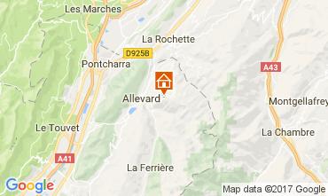 Mappa Le Collet d'Allevard Appartamento 112005