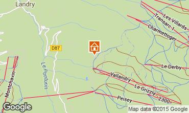 Mappa Peisey-Vallandry Chalet 74279