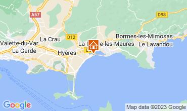 Mappa Hyères Appartamento 102440
