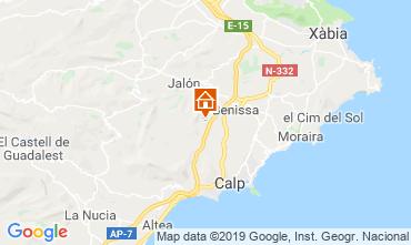 Mappa Calpe Casa 116425