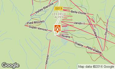 Mappa Les 2 Alpes Appartamento 73704