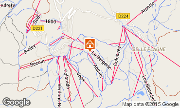 Mappa La Plagne Monolocale 2233