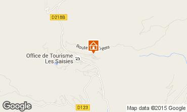 Mappa Les Saisies Appartamento 91423