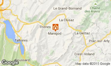 Mappa Manigod-Croix Fry/L'étale-Merdassier Chalet 101553