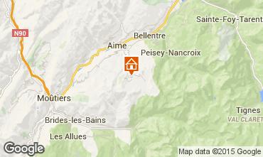 Mappa La Plagne Chalet 56090
