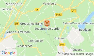 Mappa Esparron-de-Verdon Appartamento 120210