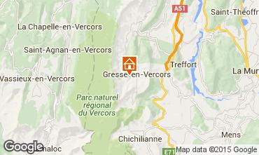 Mappa Gresse en Vercors Agriturismo 66151