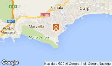 Mappa Calpe Villa  75907