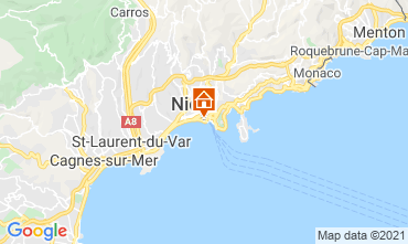 Mappa Nizza Appartamento 8341