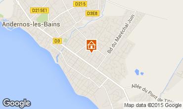 Mappa Andernos les Bains Casa 10182