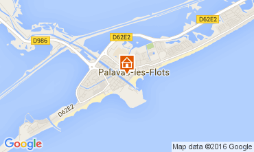 Mappa Palavas-les-Flots Appartamento 104876