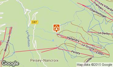 Mappa Peisey-Vallandry Appartamento 28048