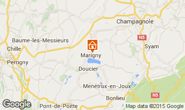 Mappa Clairvaux-les-Lacs Agriturismo 97963
