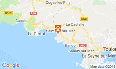 Mappa Saint Cyr sur Mer Casa 119759