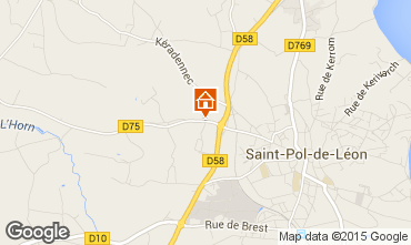 Mappa Saint-Pol-de-Léon Casa 58777