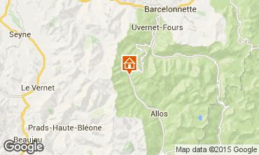 Mappa La Foux d'Allos Monolocale 91151