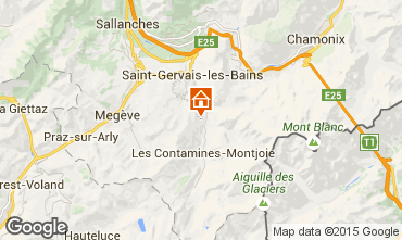 Mappa Saint Gervais Mont-Blanc Appartamento 2560