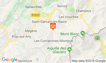 Mappa Saint Gervais Mont-Blanc Chalet 116893