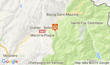 Mappa Montchavin les Coches Appartamento 95029