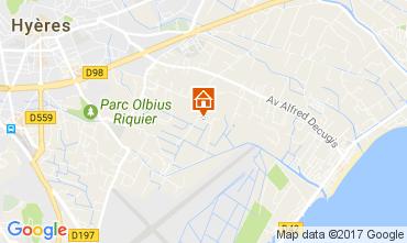 Mappa Hyères Casa 108801