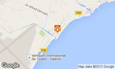 Mappa Hyères Appartamento 5818