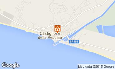 Mappa Castiglione della Pescaia Appartamento 70019