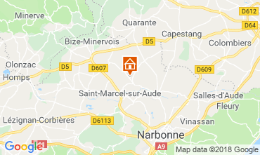 Mappa Narbonne (Narbonna) Casa 115058
