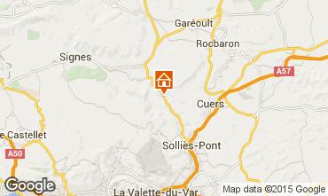 Mappa Hy�res Villa  93846
